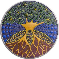 2020 Tree of Life - DOT art series - Palau 20 dollars 2020 3 oz silver coin 20$
