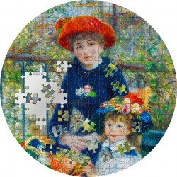 2020 TWO SISTERS On The Terrace Renoir Micropuzzle Treasures - Palau 20 dollars 2020 3 oz silver coin 20$