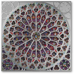 2020 ROSE WINDOW of Notre Dame - Solomon Islands 5 dollars 2020 2 oz silver coin