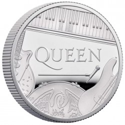 2020 QUEEN Band - United Kingdom 1 pound 1/2 oz silver proof coin