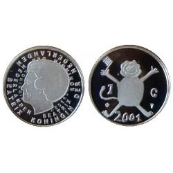 Nederland 1 gulden 2001 FDC - Leeuwtje (laatste gulden)