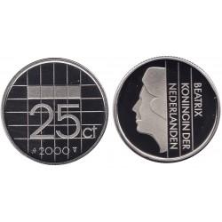 serie Nederland 25 cent 1982-2001 FDC