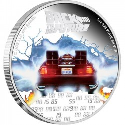 2020 BACK TO THE FUTURE 35th Anniversary - Niue 2 dollars 1oz silver coin