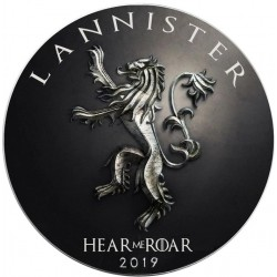 GAME OF THRONES - 3) Lannister: Hear me Roar - USA 1 dollar 2019 1oz silver coin