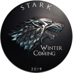 GAME OF THRONES - 1) Stark: Winter is Coming - USA 1 dollar 2019 1oz silver coin