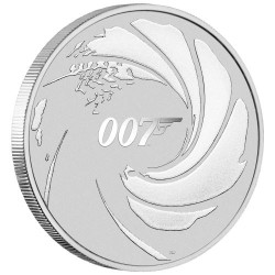 2020 James Bond 007 bullion - Tuvalu 1 dollar 1oz silver coin