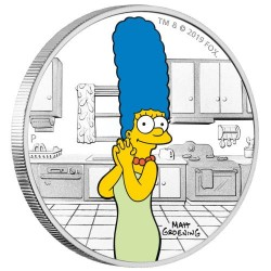 2019 The Simpsons 3) MARGE SIMPSON - Tuvalu 1 dollar 2019 1oz silver coin