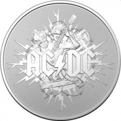 Australia 1 dollar 2021 ACDC 1 oz silver coin